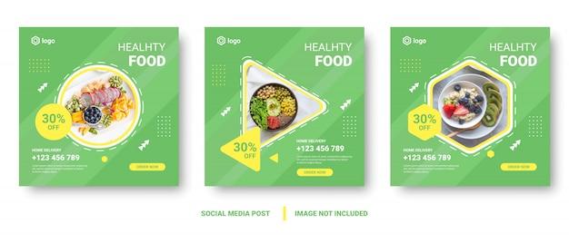 Bannière de menu alimentaire poste de médias sociaux.