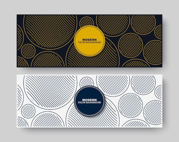 Bannière minimale de ligne de cercle abstrait