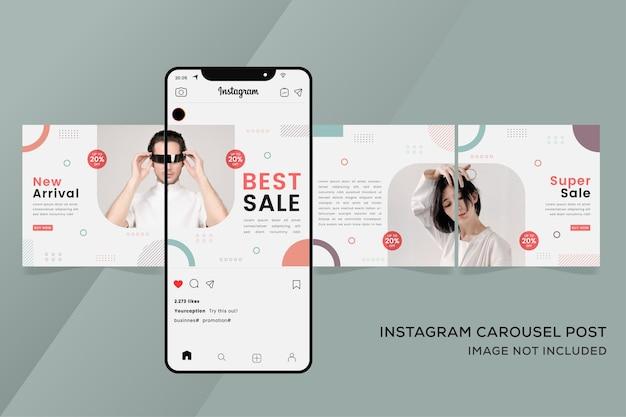 Bannière de mode pour les modèles de carrousel instagram