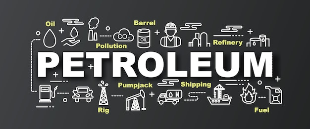 Bannière à la mode de vecteur de pétrole
