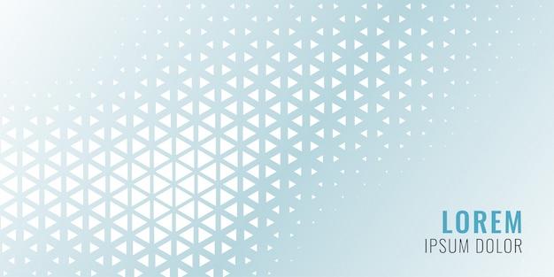 Bannière modèle abstrait triangle