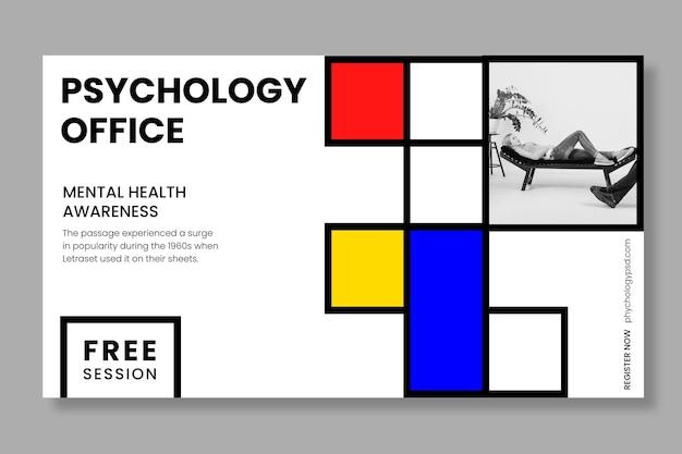 Bannière de modèle de bureau de psychologie
