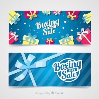 Bannière de modèle cadeau groupe boxing day