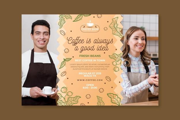 Bannière de modèle de café