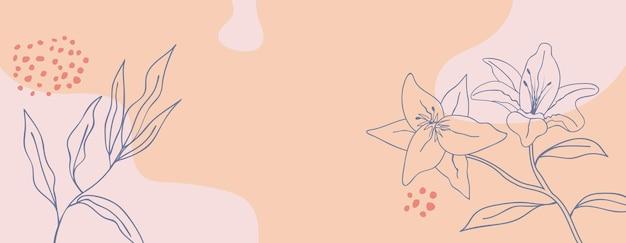 Bannière de modèle floral abstrait