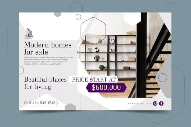 Bannière de modèle immobilier