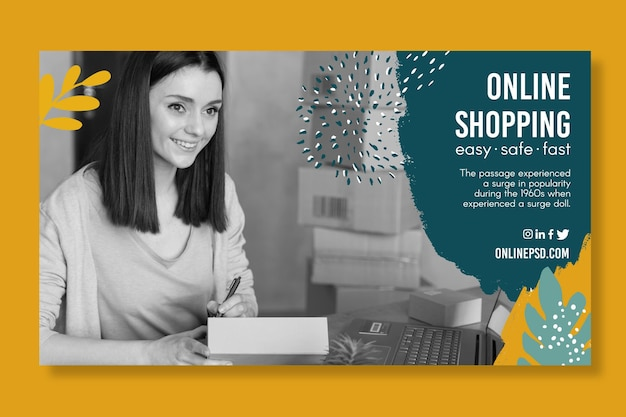 Bannière de modèle de magasinage en ligne