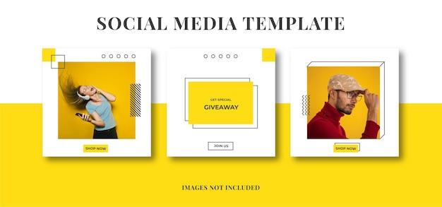 Bannière de modèle de publicité sur les réseaux sociaux