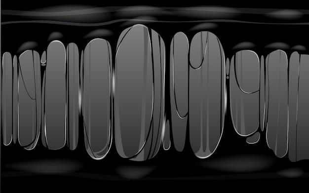 Bannière de modèle de slime noir collant