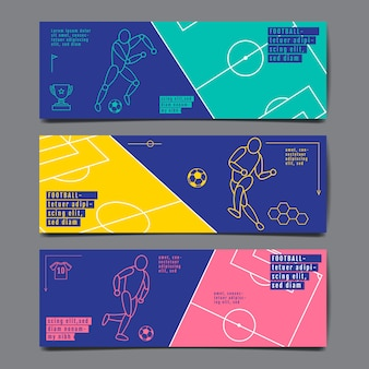 Bannière de modèle de sport