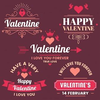 Bannière de modèle valentine vector background pour bannière