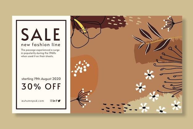 Bannière de modèle de vente d'automne
