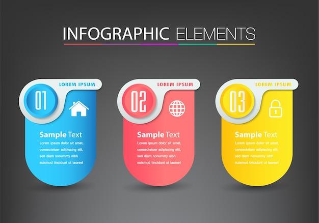 Bannière de modèle de zone de texte moderne infographie
