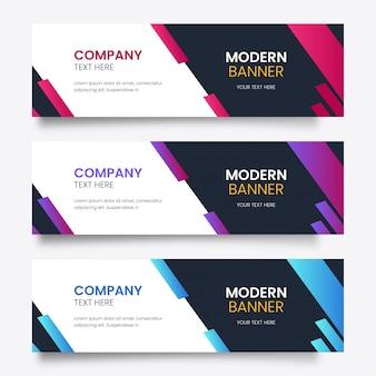 Bannière moderne colorée
