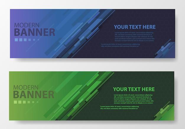 Bannière moderne avec différentes couleurs