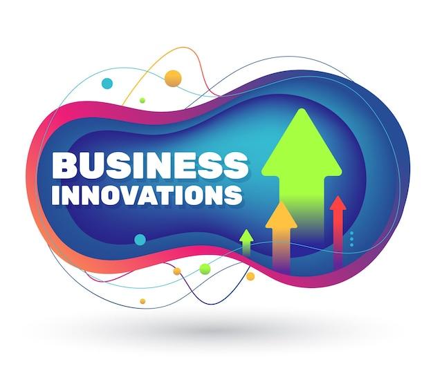 Bannière moderne du projet d'innovation commerciale avec ombre.