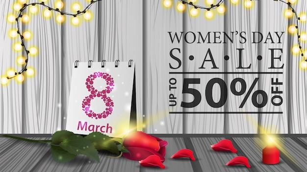 Bannière moderne horizontale pour femmes à prix réduit