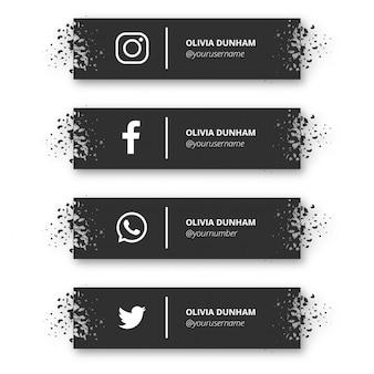 Bannière moderne de médias sociaux
