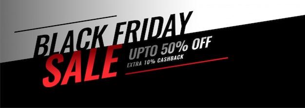 Bannière moderne de vente de vendredi noir avec les détails de l'offre