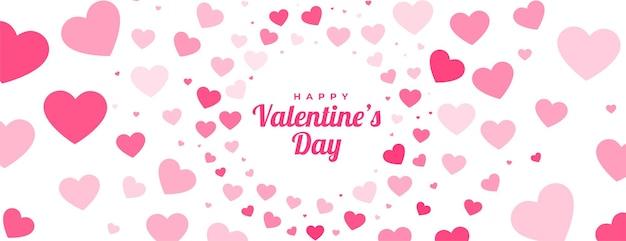 Bannière de motif coeurs saint valentin