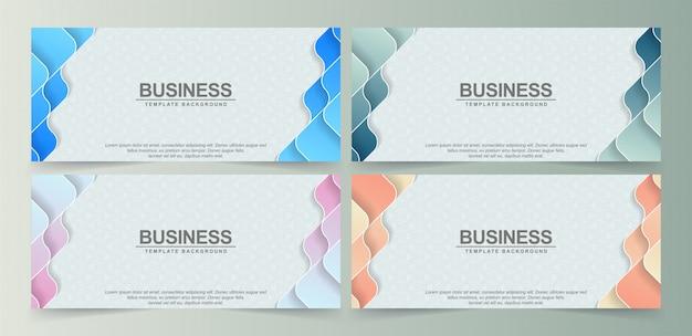 Bannière motif coloré abstrait