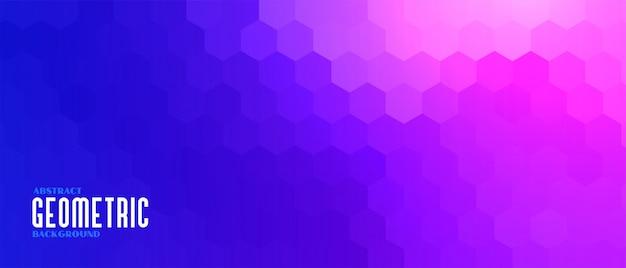 Bannière de motif hexagonal géométrique coloré