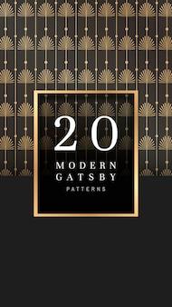 Bannière à motifs gatsby