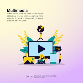 Bannière multimédia
