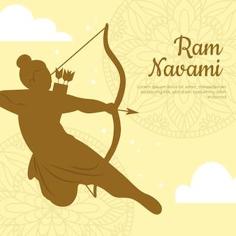 Bannière navami ram avec archer