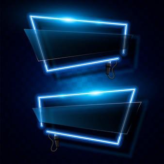 Bannière de néon abstraite