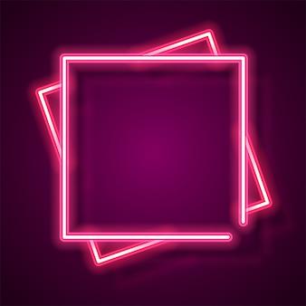 Bannière néon carré