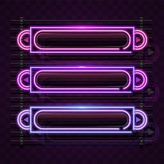 Bannière néon rectangulaire