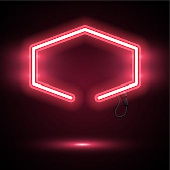 Bannière de néon rouge