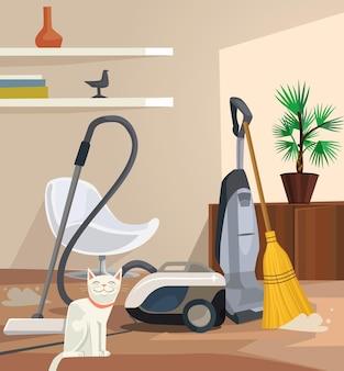 Bannière de nettoyage. bureau.