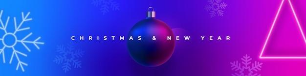 Bannière de noël et nouvel an