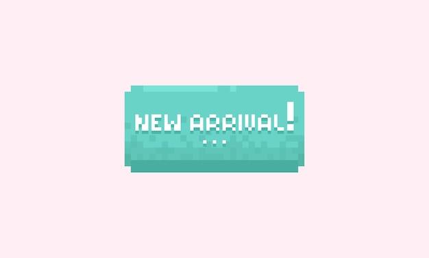 Bannière nouvelle arrivée pixel