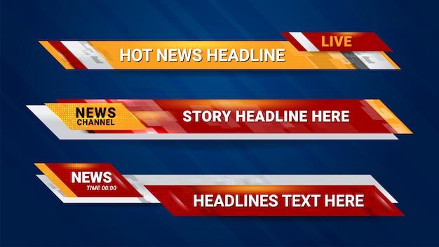 Bannière de nouvelles pour la chaîne de télévision