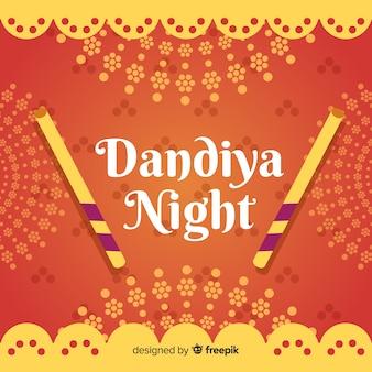 Bannière de nuit de dandiya