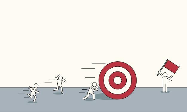 Bannière d'objectif cible marketing