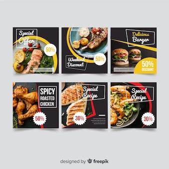 Bannière offre alimentaire avec photo