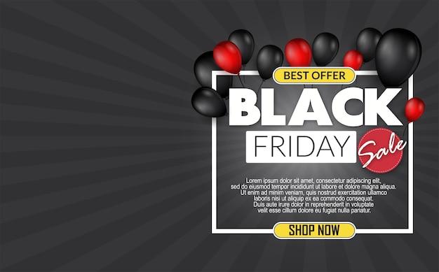 Bannière d'offre limitée black friday