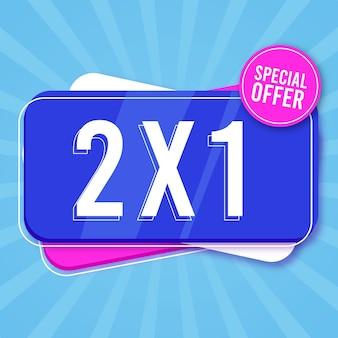 Bannière d'offre spéciale shopping bleu