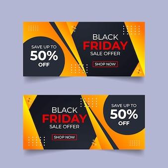 Bannière d'offre de vente du black friday conception de bannière publicitaire sur les médias sociaux conception de bannière d'ensemble de bundle de black friday