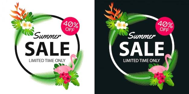 Bannière offre de vente d'été