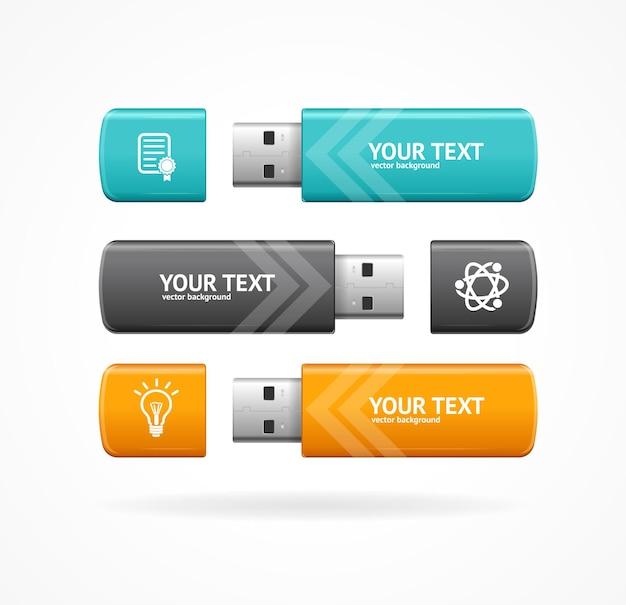 Bannière d'option flash usb pour votre entreprise.