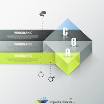 Bannière option infographie abstraite