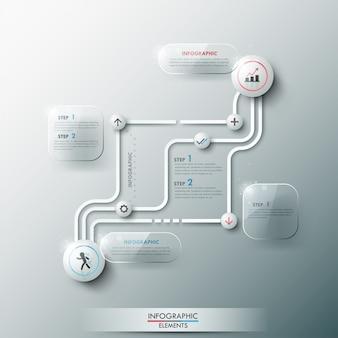 Bannière option infographie moderne avec cercles 3d