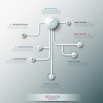 Bannière option infographie moderne