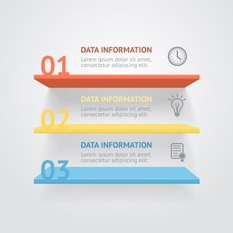 Bannière des options des étagères infografic
