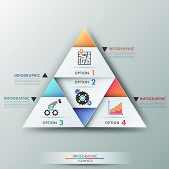 Bannière d'options infographie moderne 3d